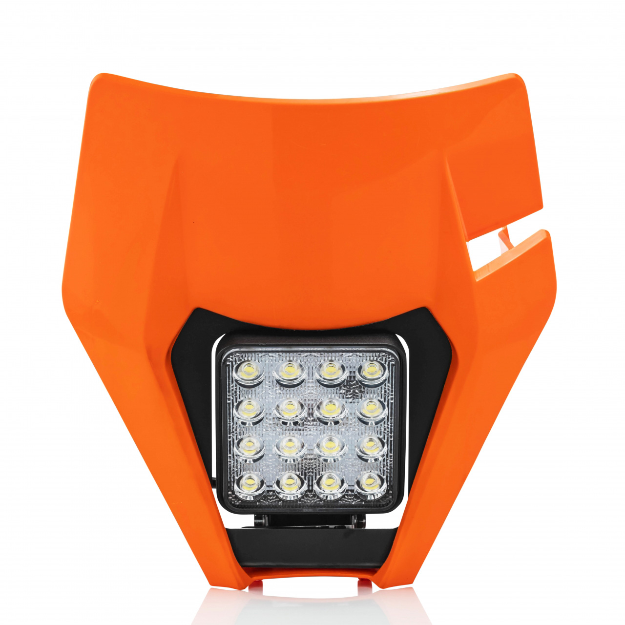 0023949.011.016 Acerbis VSL Headlight Mask Orange KTM EXC250 EXC300 EXC-F250 EXC-F350 EXC-F450 Koplamp Plaque Phare Complète Lampenmaske