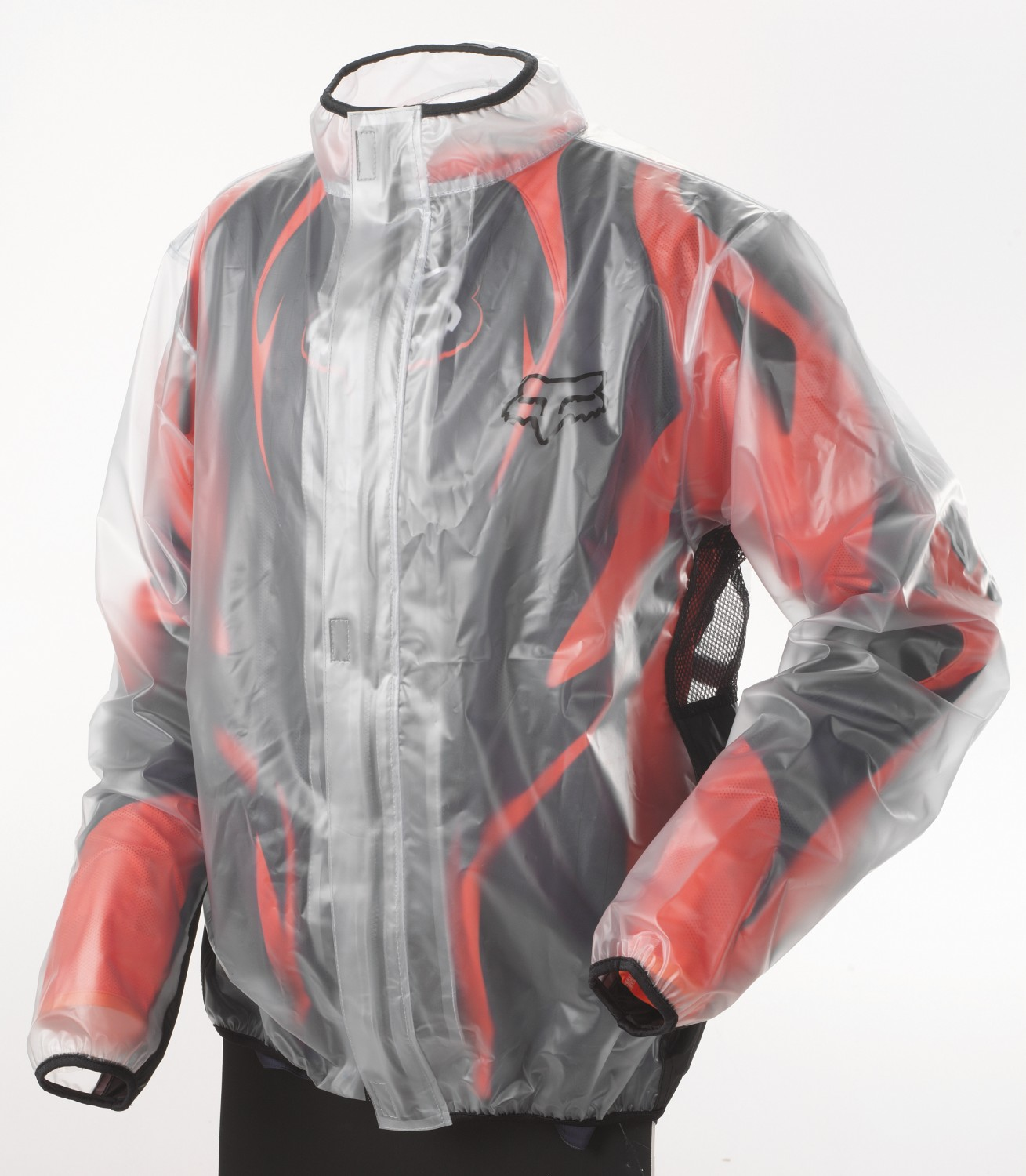 10033-012 fox racing mx fluid rain jacket black regenjas regenjacke veste de pluie