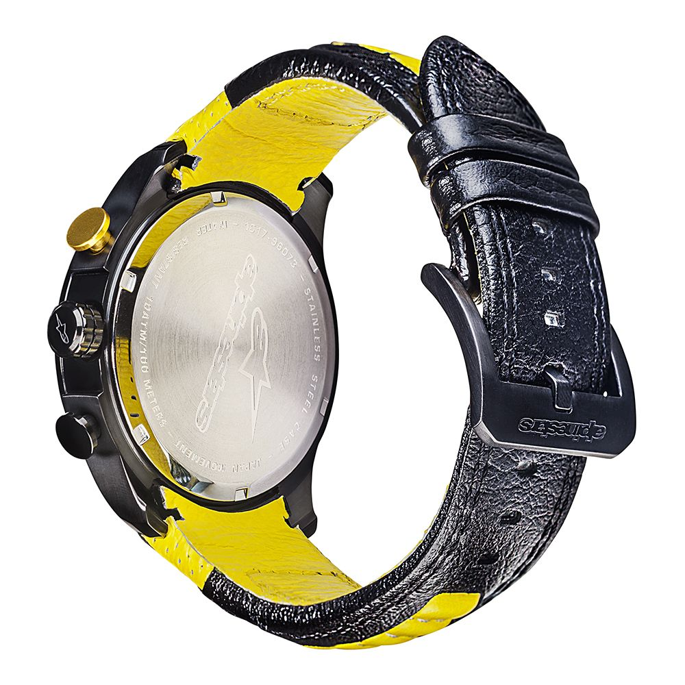 1017-96073-1050Alpinestars Tech Watch Chrono Black/Yellow Horloge Uurwerk Watch Uhr Montre