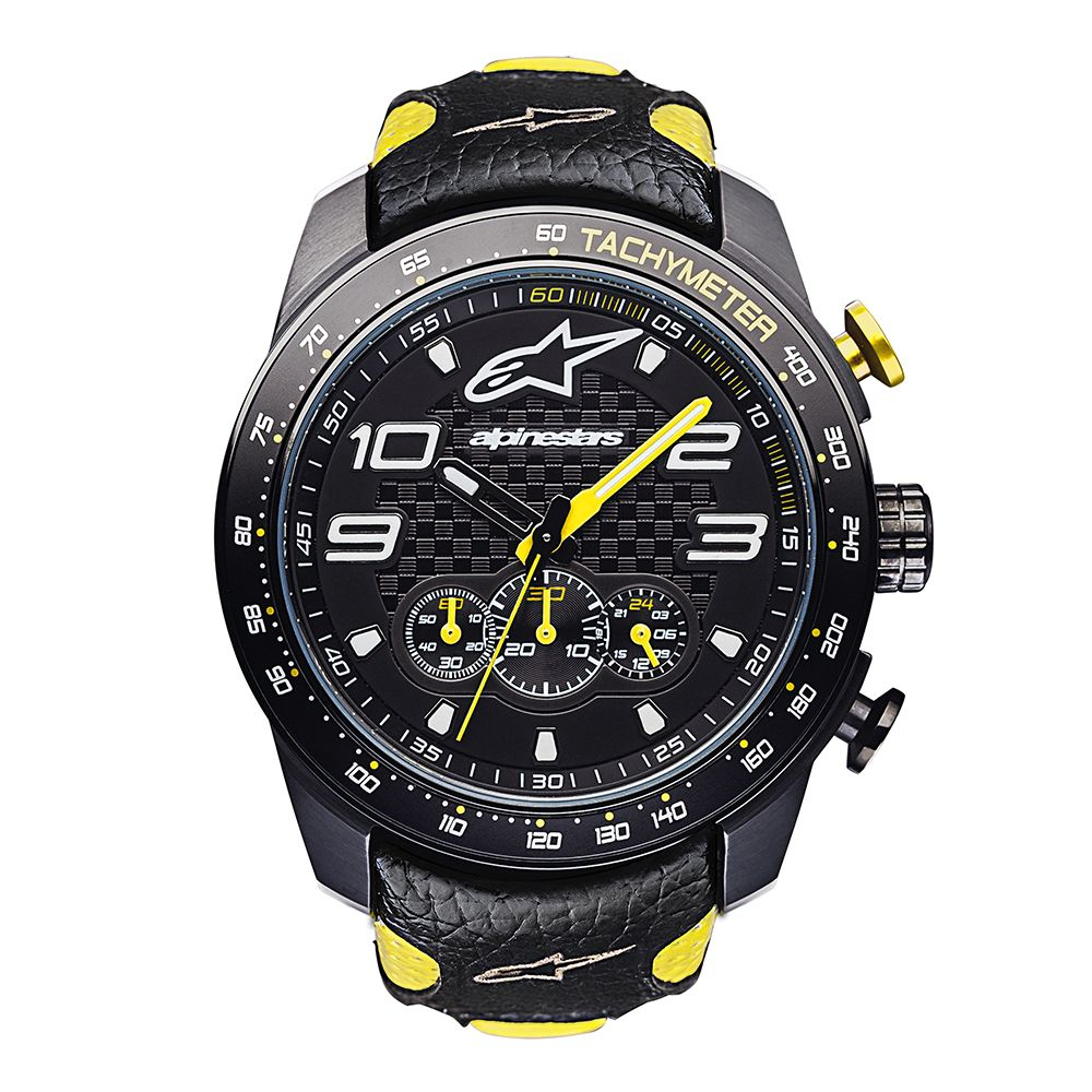 1017-96073-1050 Alpinestars Tech Watch Chrono Black/Yellow Horloge Uurwerk Watch Uhr Montre