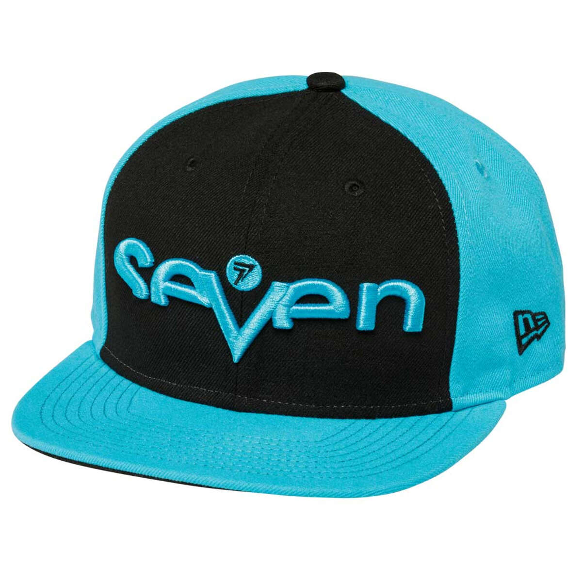 1220001-014 Seven MX brand hat cap black light blue casquette pet kappe