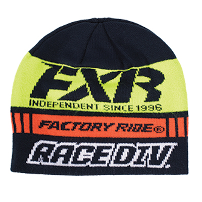 fxr racing race division beanie navy orange muts bonnet mut