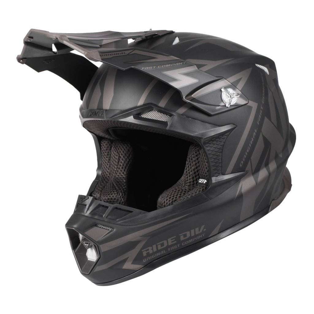 2019 FXR Racing Blade 2 0 Vertical Helmet Black OPS