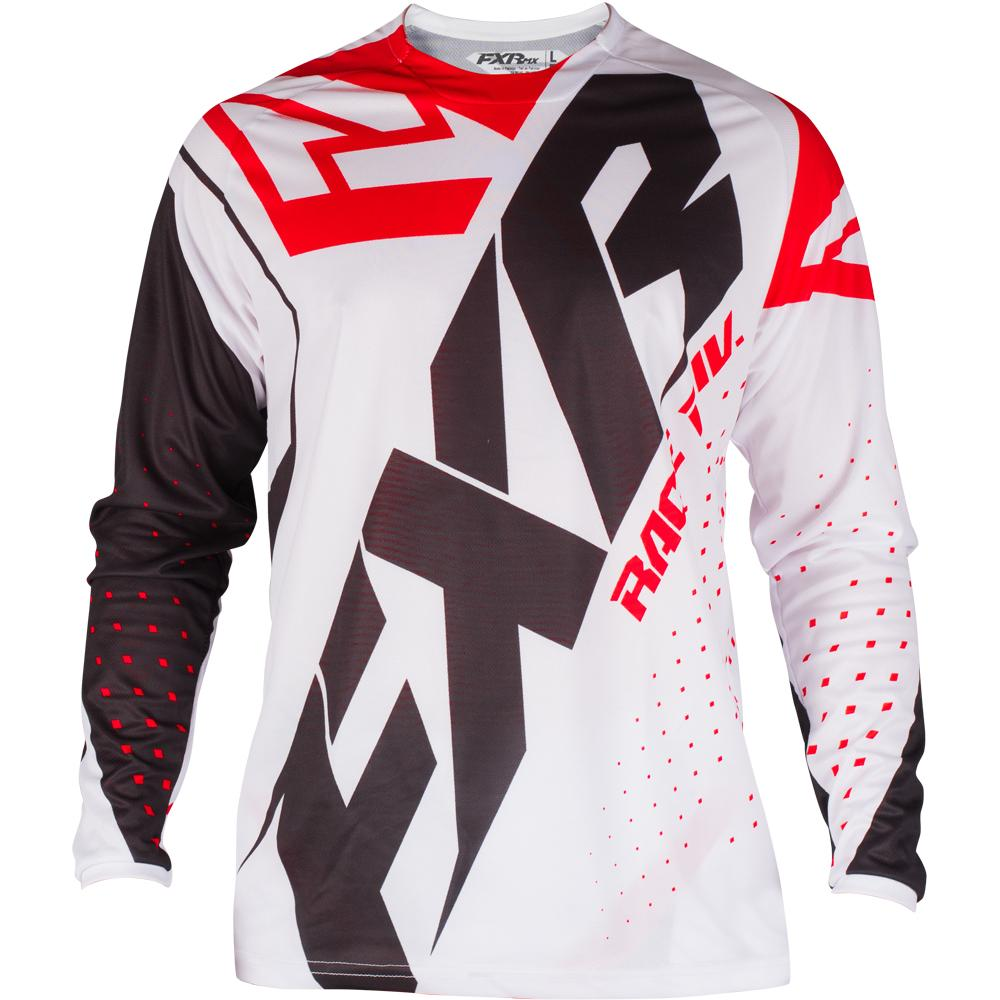193301-0120 FXR Racing 2019 Clutch Prime MX White Black Red Motocross Jersey Enduro Trikot Crosstrui Maillot Off-Road