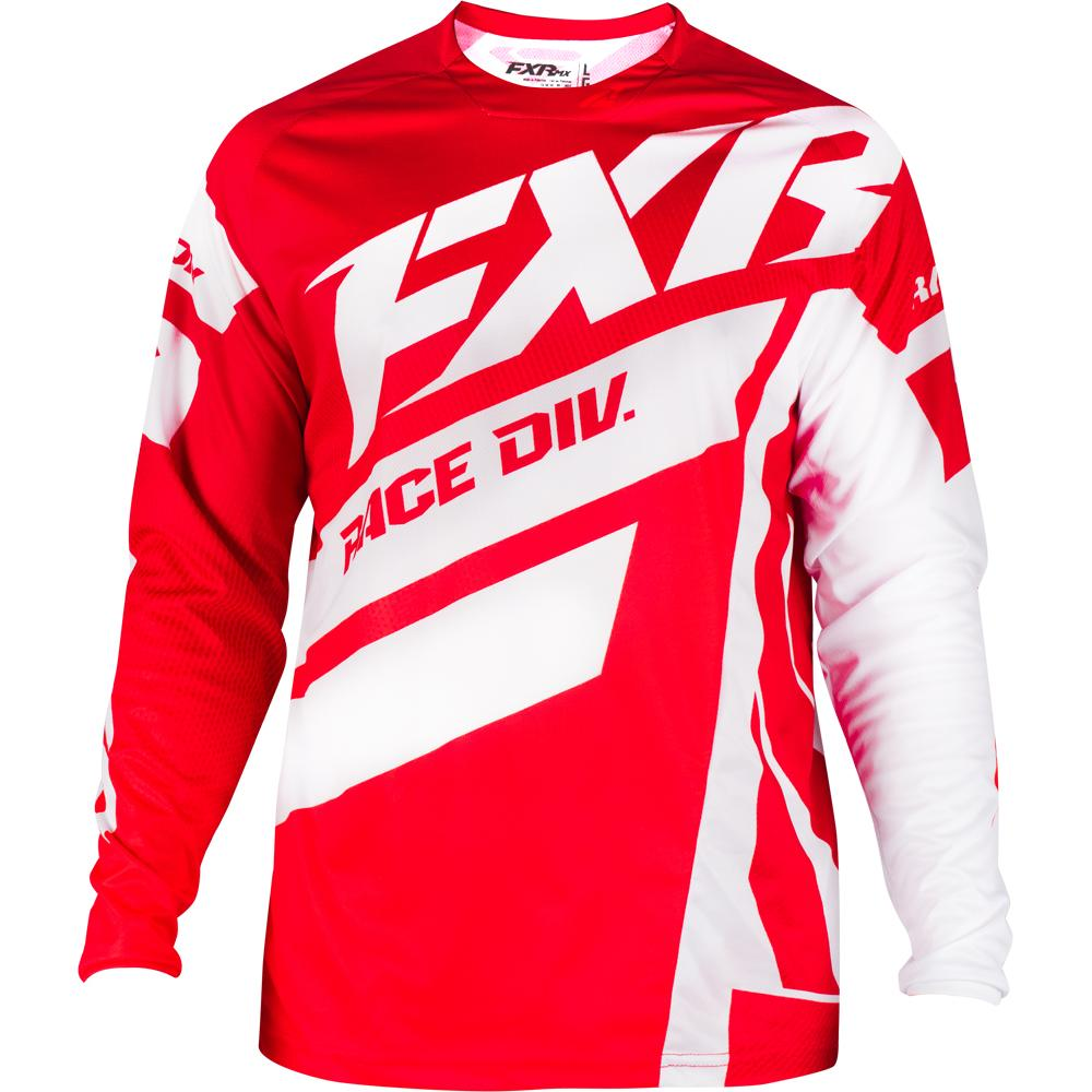 193303-2501 FXR Racing 2019 Clutch Podium MX Maroon Red Fade White Motocross Jersey Enduro Trikot Crosstrui Maillot Off-Road