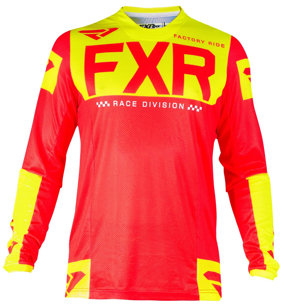 193310-2065 FXR Racing MX Helium Air Jersey Red HiVis Cross Trui Trikot Maillot