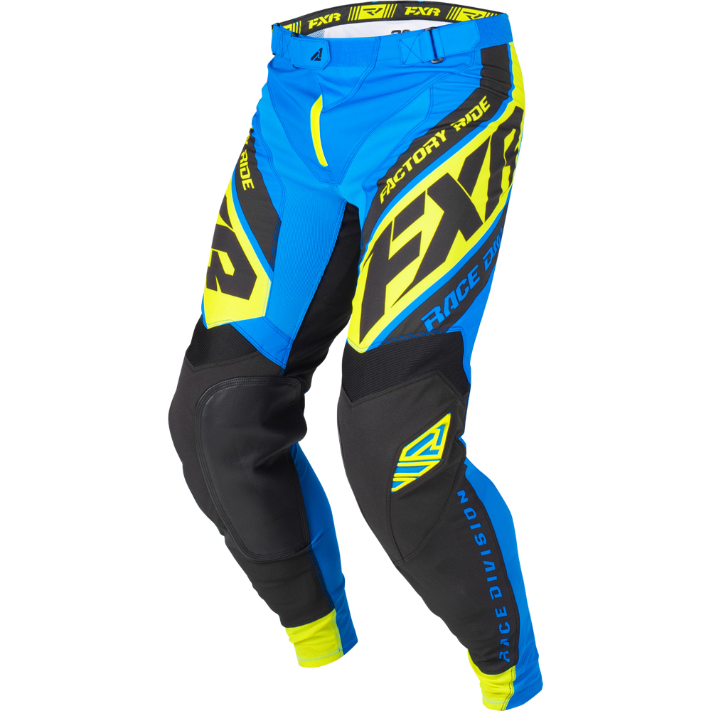 193340-4065 FXR Racing 2019 Revo MX Blue Black Flo Yellow Motocross Pant Enduro Hose Crossbroek Pantalon Off-Road