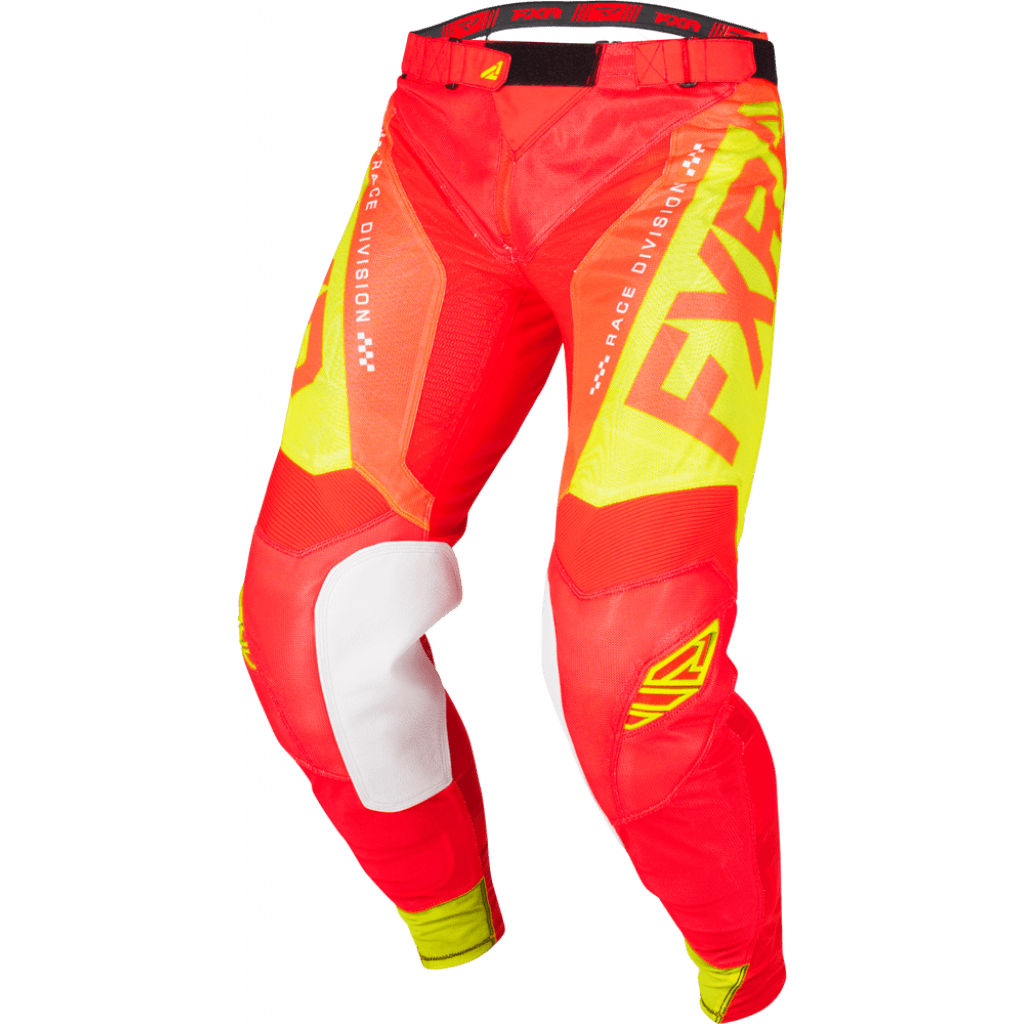 193342-2065 FXR Racing MX Helium Air Pant Red Hi-Vis Yellow Cross Broek Hose Pantalon