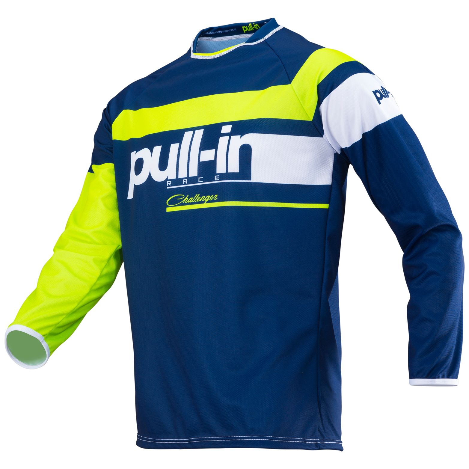 195-9003150-13 Pull-In 2019 Challenger Race Navy Lime Motocross Jersey Enduro Trikot Crosstrui Maillot Offroad