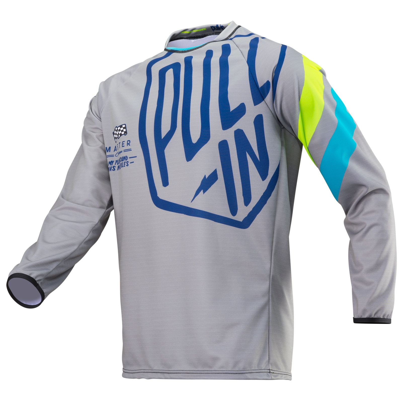 195-9003150-33 Pull-In 2019 Challenger Master Grey Lime Motocross Jersey Enduro Trikot Crosstrui Maillot Offroad