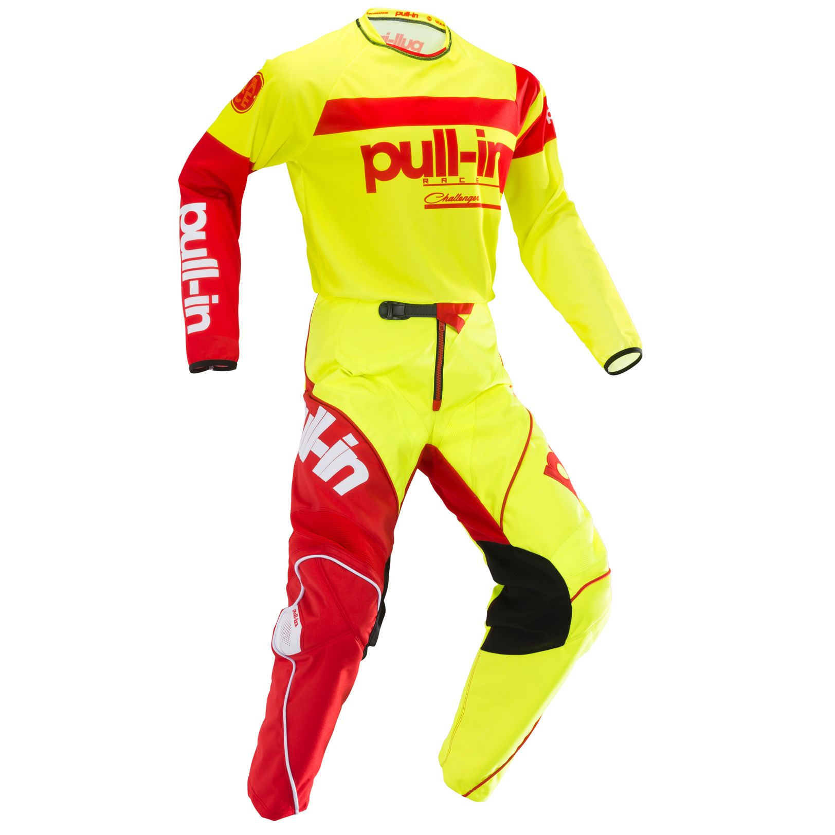 195-9003150-92 Pull-In 2019 Challenger Race Neon Yellow Red Motocross Jersey Enduro Trikot Crosstrui Maillot Offroad