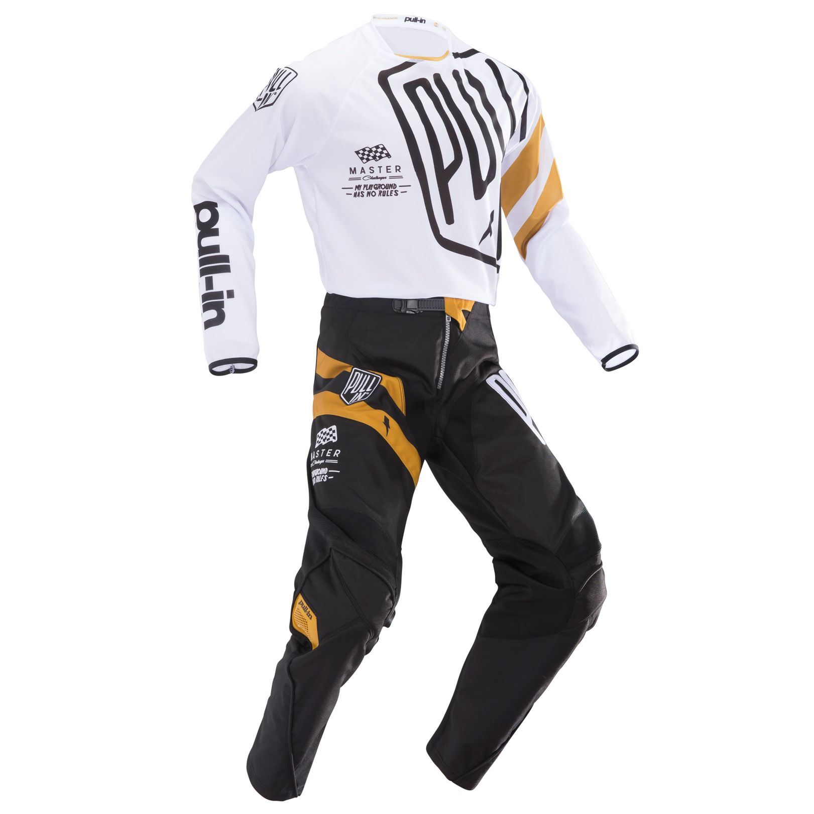 195-9006030-84 Pull-In 2019 Challenger Master Black Gold Motocross Pant Enduro Crossbroek Pantalon Hose