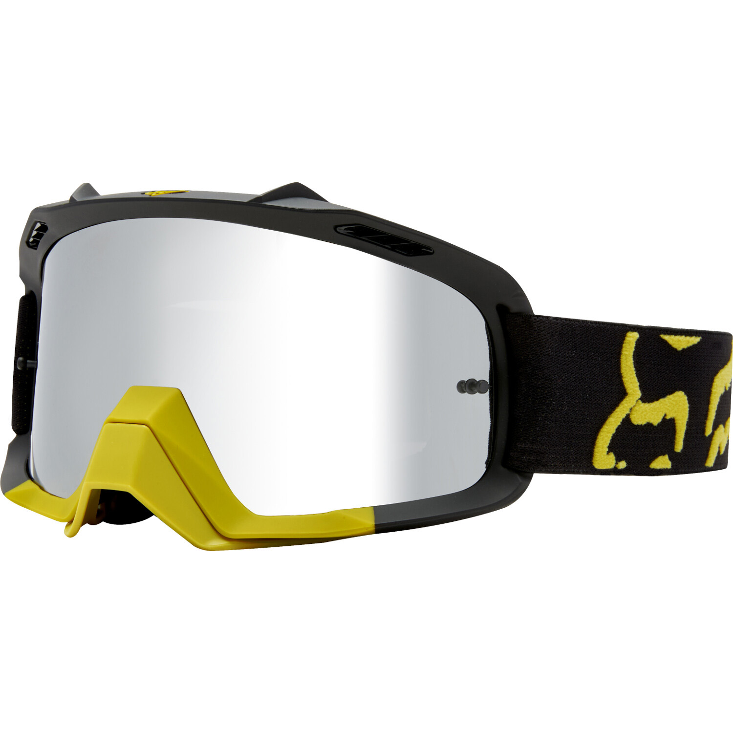 19966-547-OS Fox Racing Air Space Preme Dark Yellow Motocross Enduro Off-Road Goggle Masque Brille Crossbril
