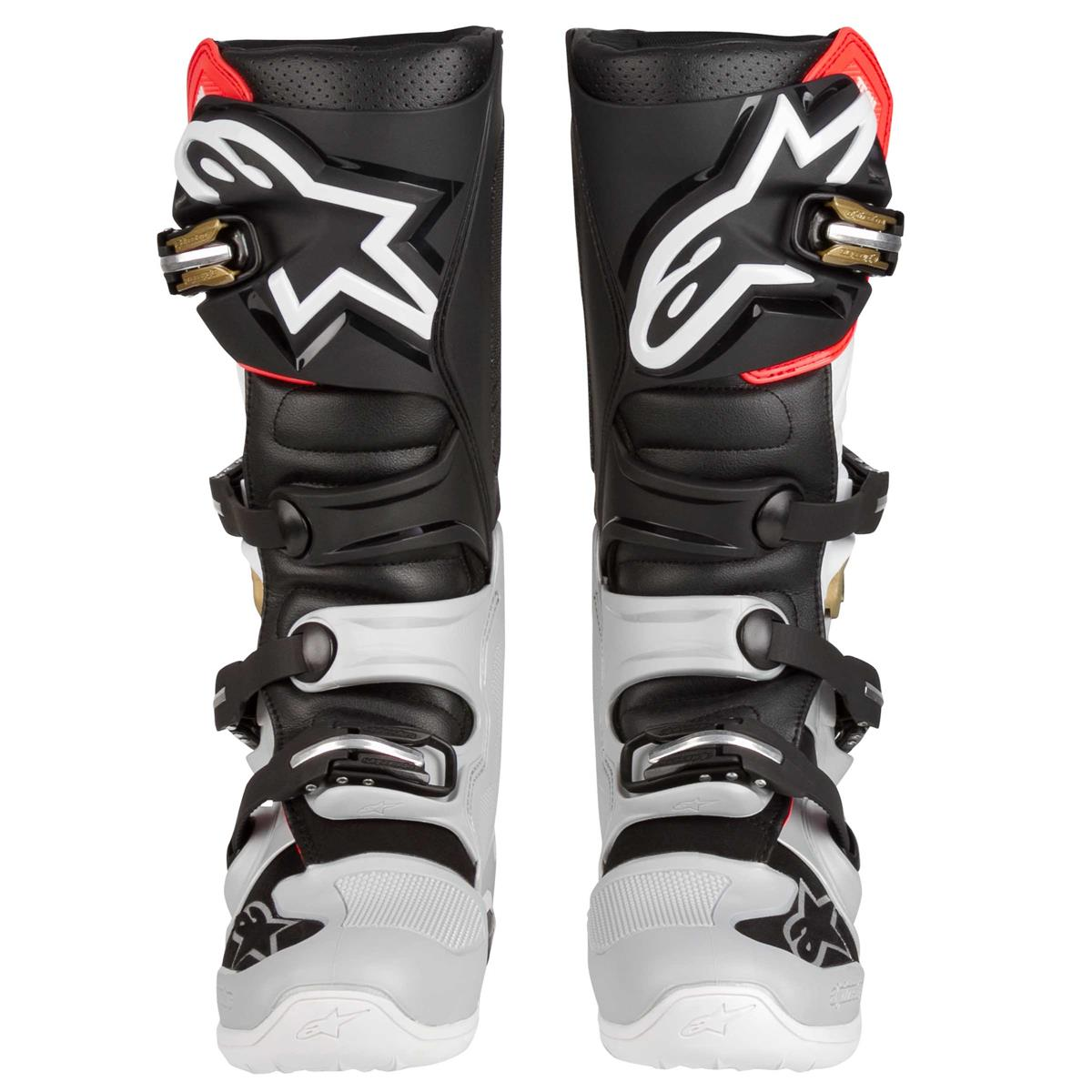 2012014 1829 2020 Alpinestars Tech 7 Motocross Boots Black Silver White Gold Bottes Enduro Stiefel Crosslaarzen