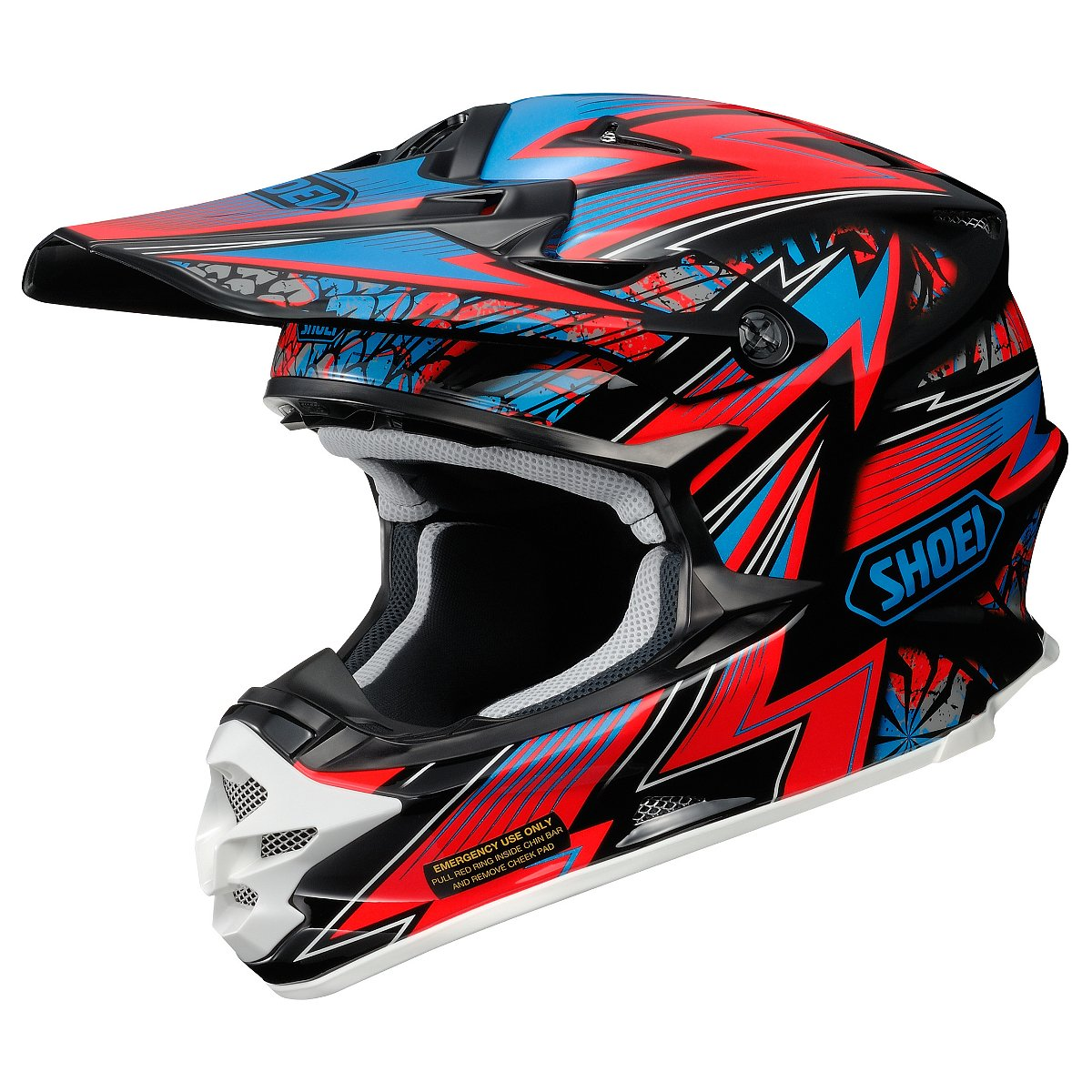 shoei vfx w maelstrom tc 1 helmet red black sixstar racing. Black Bedroom Furniture Sets. Home Design Ideas