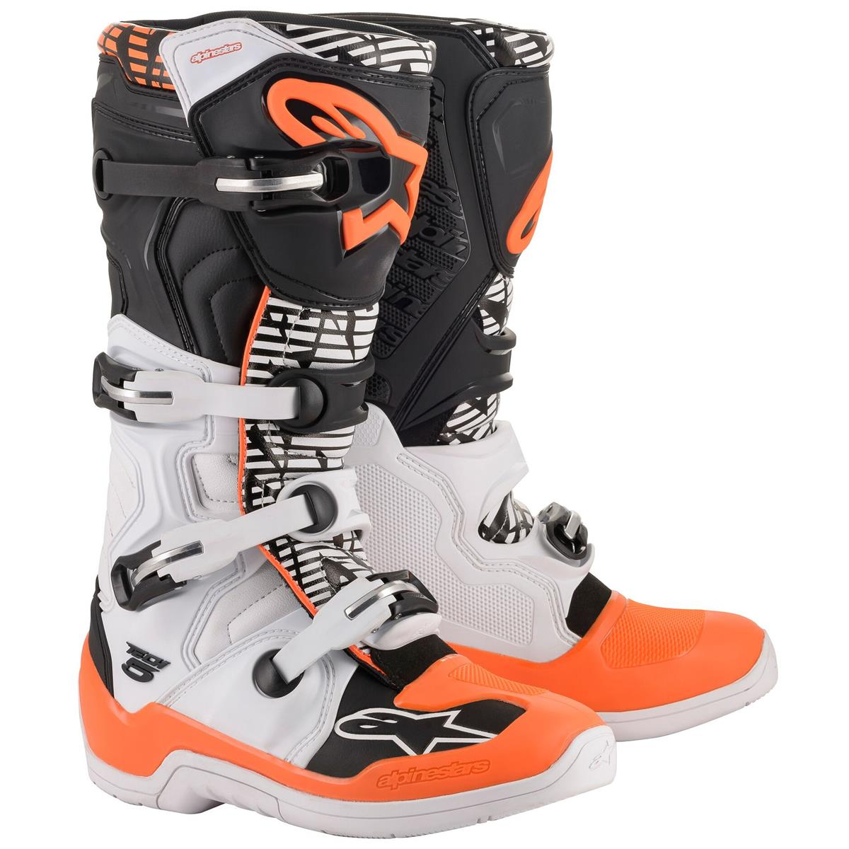 Orange Boots Black Alpinestars Fluo White 2020 5 Tech Ybvf76yg