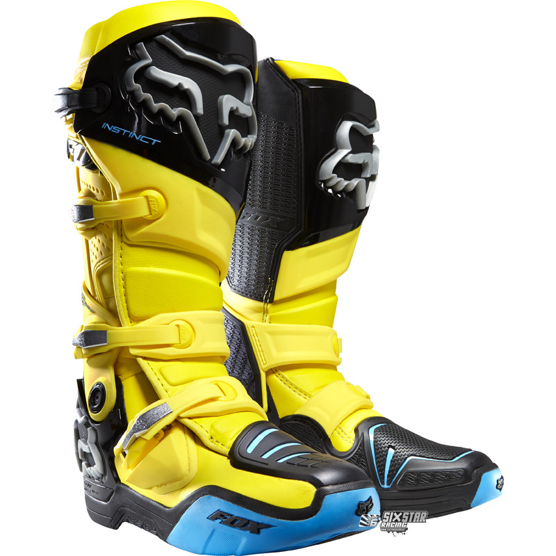 fox racing instinct gelb motocross stiefel boots moto yellow suzuki enduro ebay. Black Bedroom Furniture Sets. Home Design Ideas