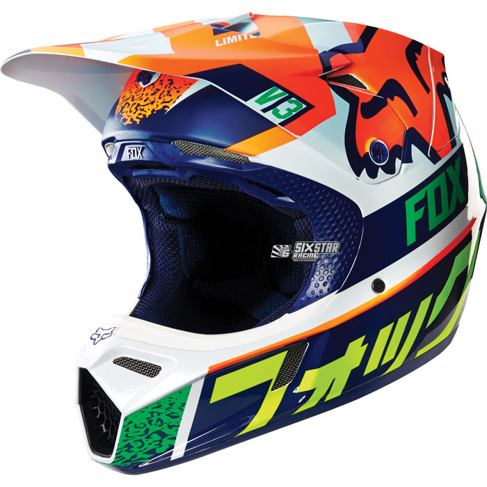fox racing v3 divizion orange ktm motocross helm helmet. Black Bedroom Furniture Sets. Home Design Ideas