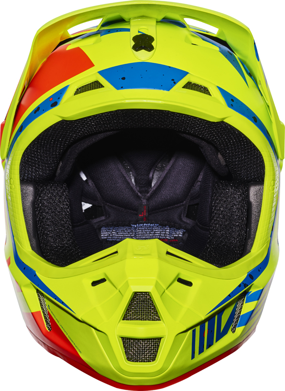 Casque Shoei 2018 >> Fox Racing V2 Nirv Helmet Yellow Blue | Sixstar Racing