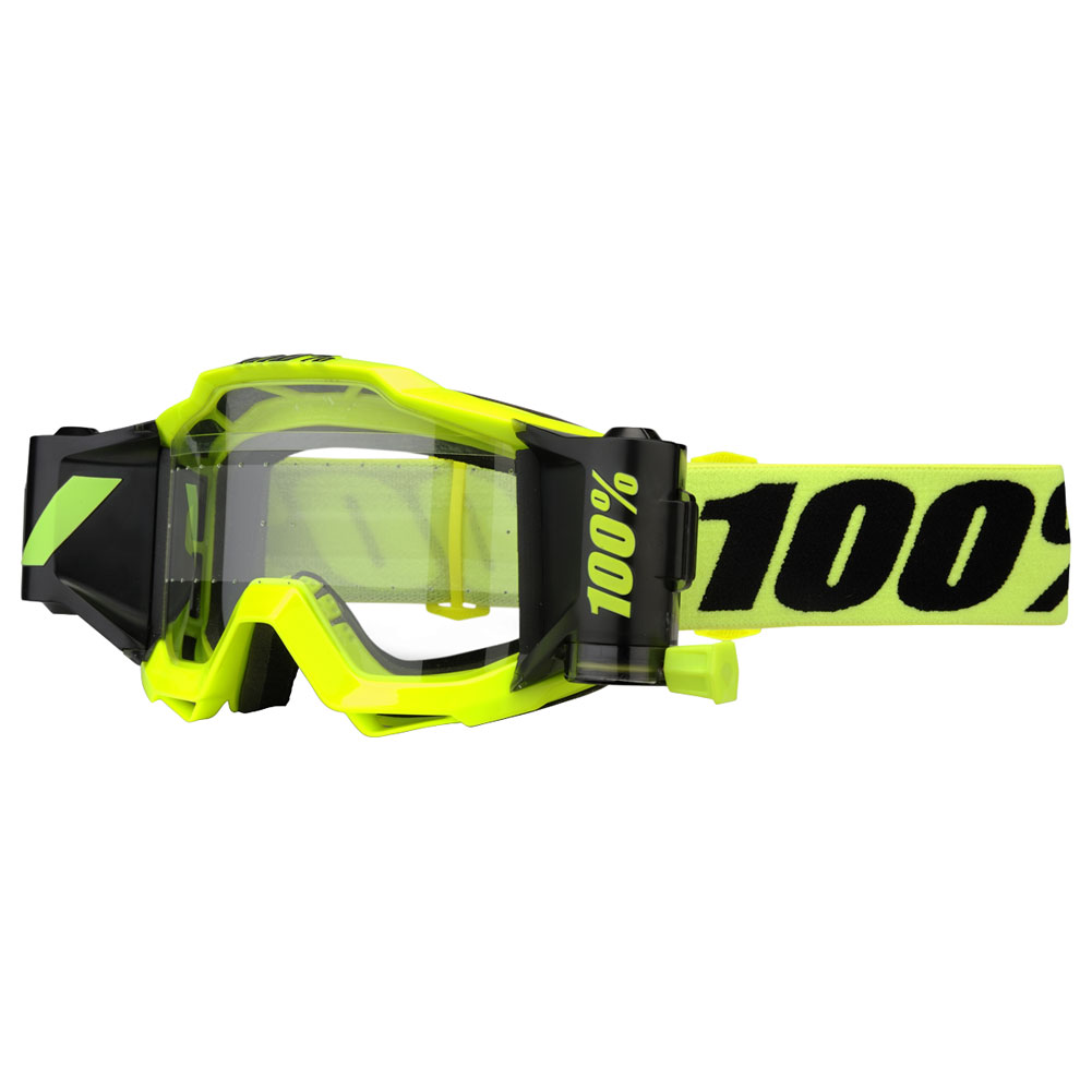100% accuri forecast fluo yellow motocross enduro bmx downhill goggle brille crossbril lunette