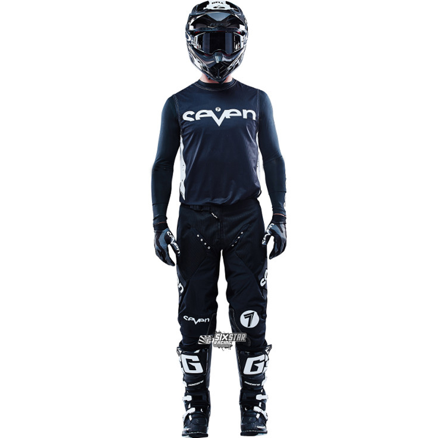 2018 Seven Mx Zero Staple Gear Kit Black Sixstar Racing