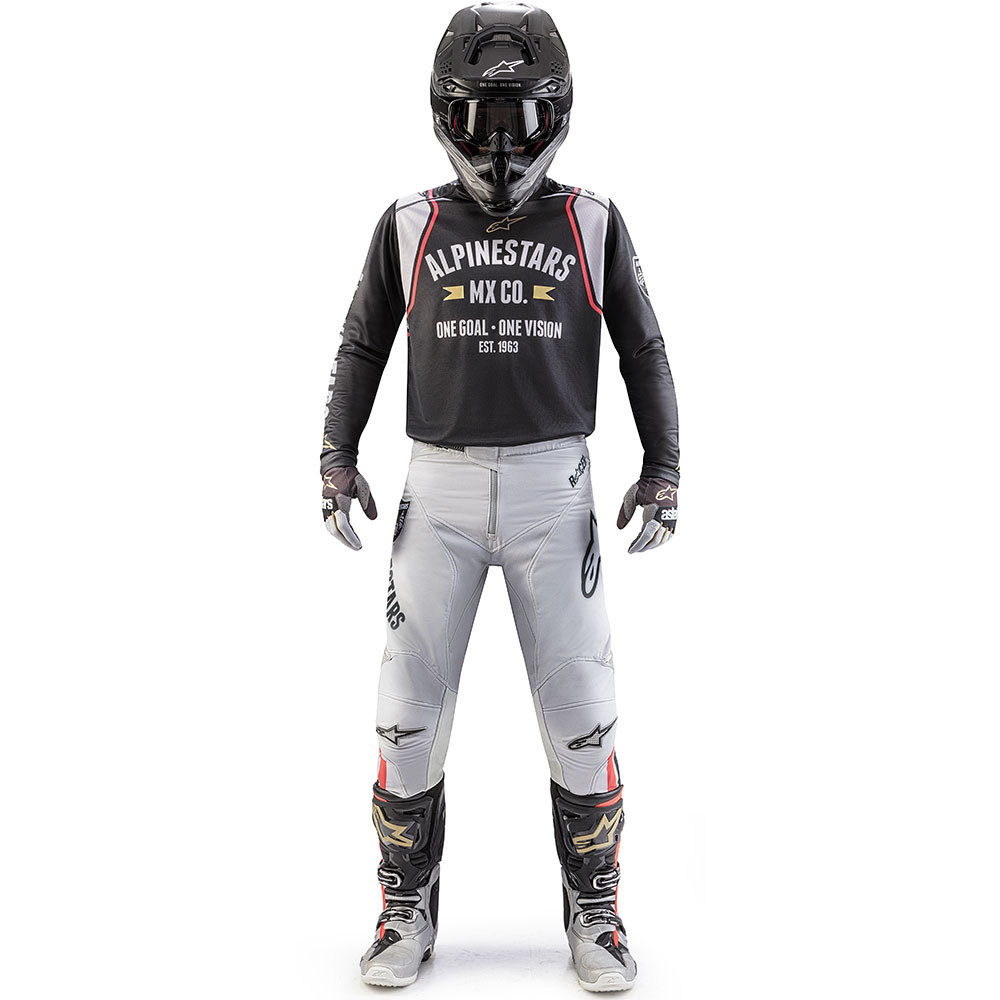 2019 Alpinestars Racer Tech Battle Born Limited Edition Black Silver Gold Gear Kit Combo equipement outfit pak kostuum motocross tenue