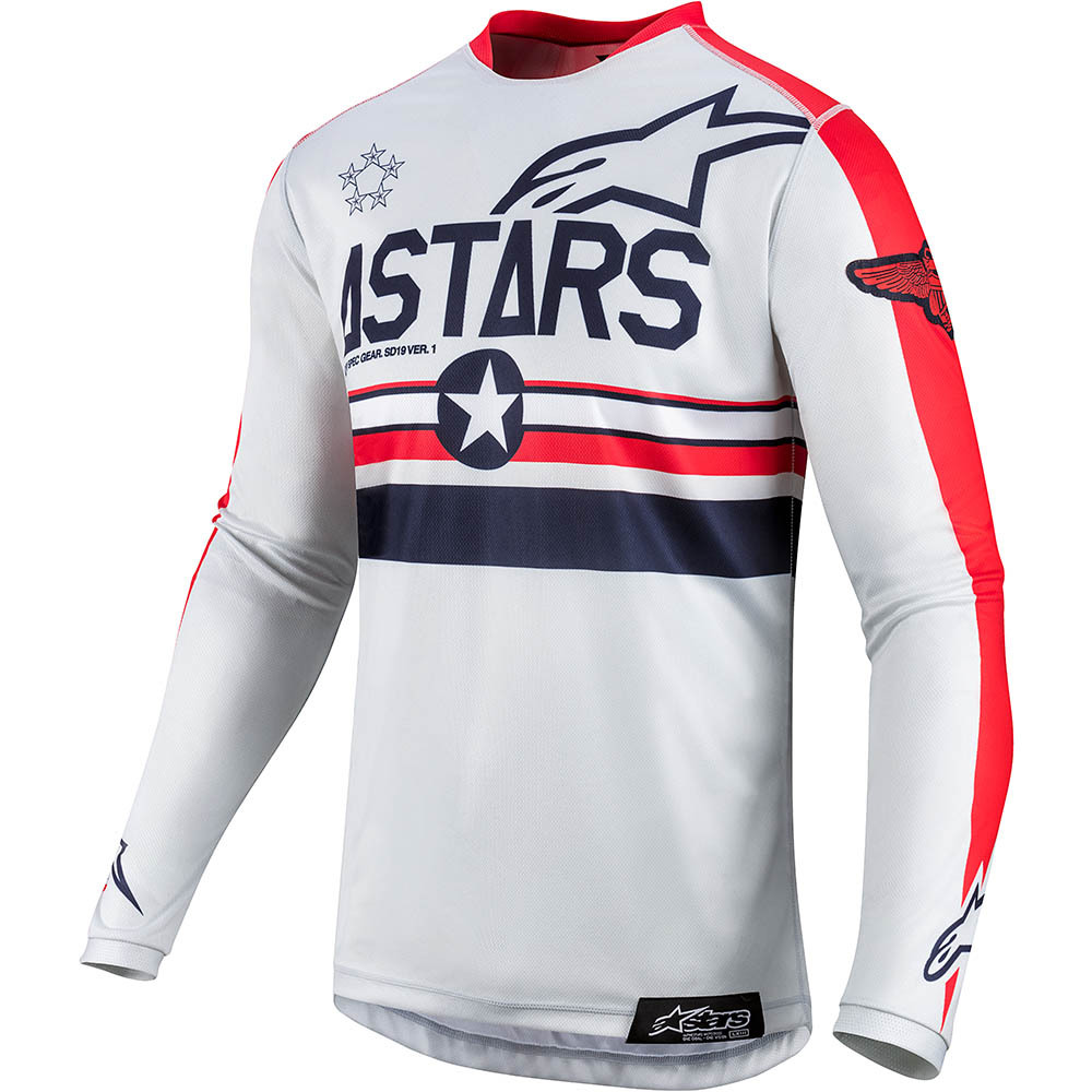 2019 Alpinestars Racer Tech Five Star Limited Edition Grey Red Gear Kit Combo equipement outfit pak kostuum motocross tenue
