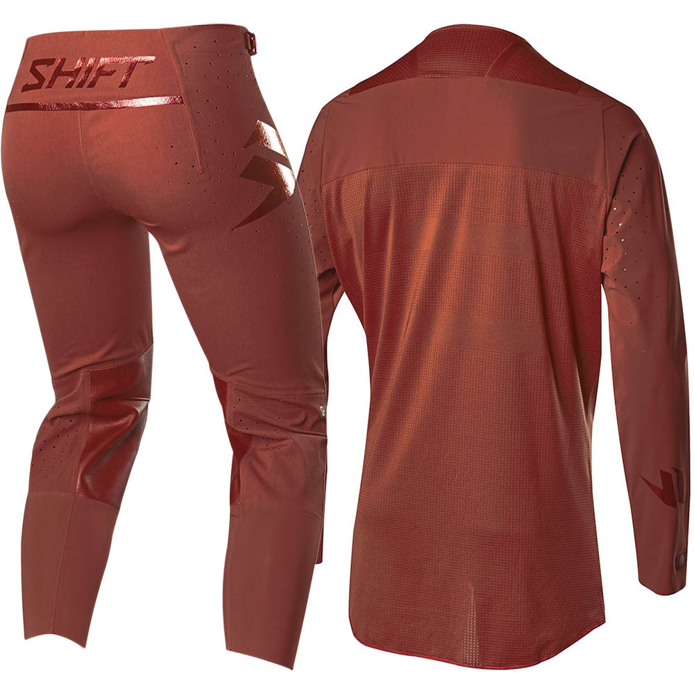 2019 Shift MX Racing Blue Label 2.0 Mars Red Clay Gear Kit Combo Equipement Motocross Outfit pak kostuum Tenue Downhill BMX