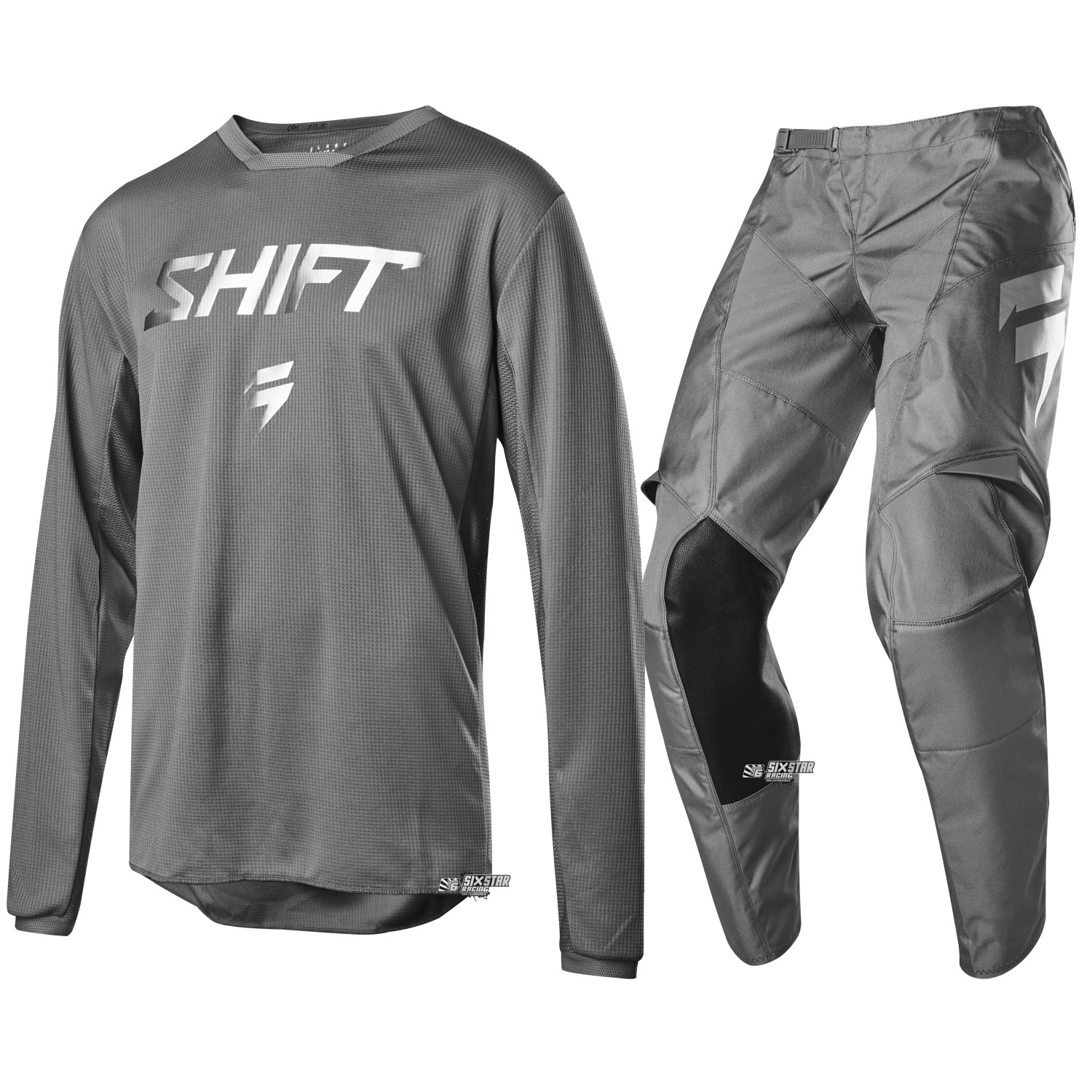 2019 Shift MX White Label Ghost Limited Edition Grey Gear Kit Combo Equipement Tenue Motocross Outfit Crosskleding