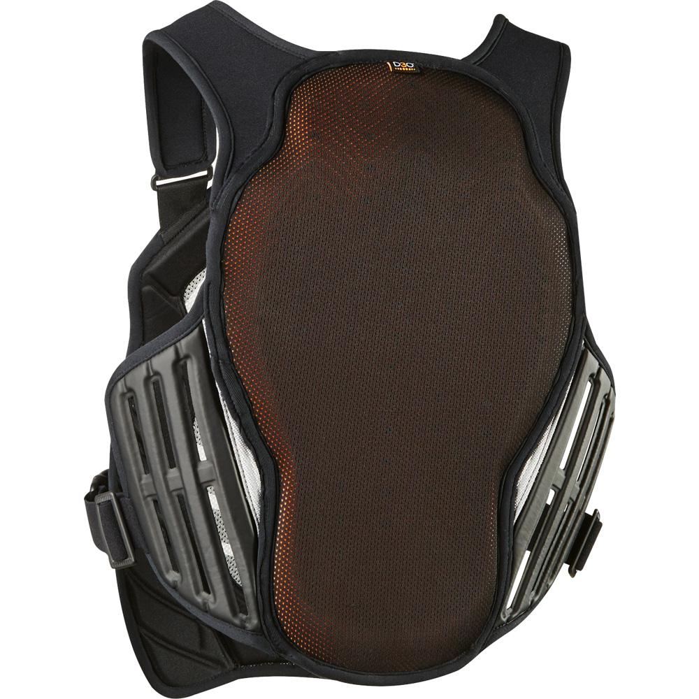 20872-464 fox racing titan race subframe ce chest body protector Black/silver brustpanzer pare pierre harnas