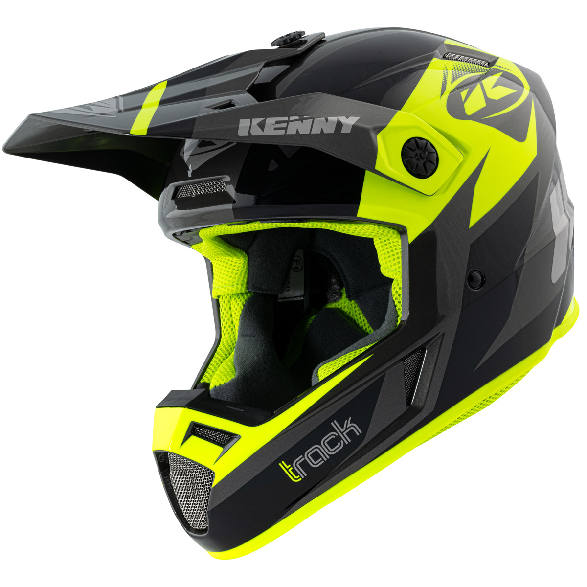 211-0303021-46 2021 Kenny Racing Track Helmet Black Neon Yellow Crosshelm Casque Cross Enduro Motocross Helm