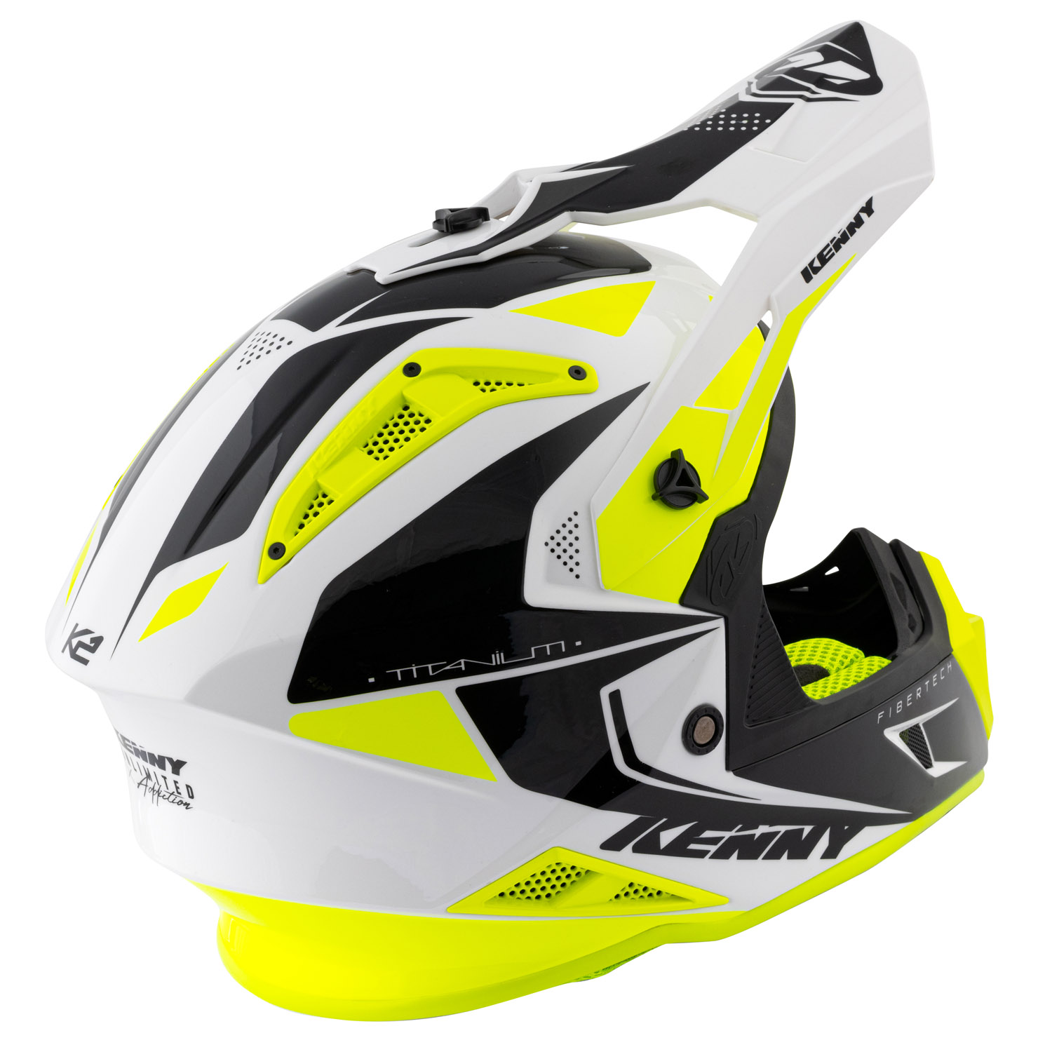 211-0505020-46 2021 Kenny Racing Titanium Helmet White Black Neon Yellow Crosshelm Casque Cross Enduro Motocross Helm