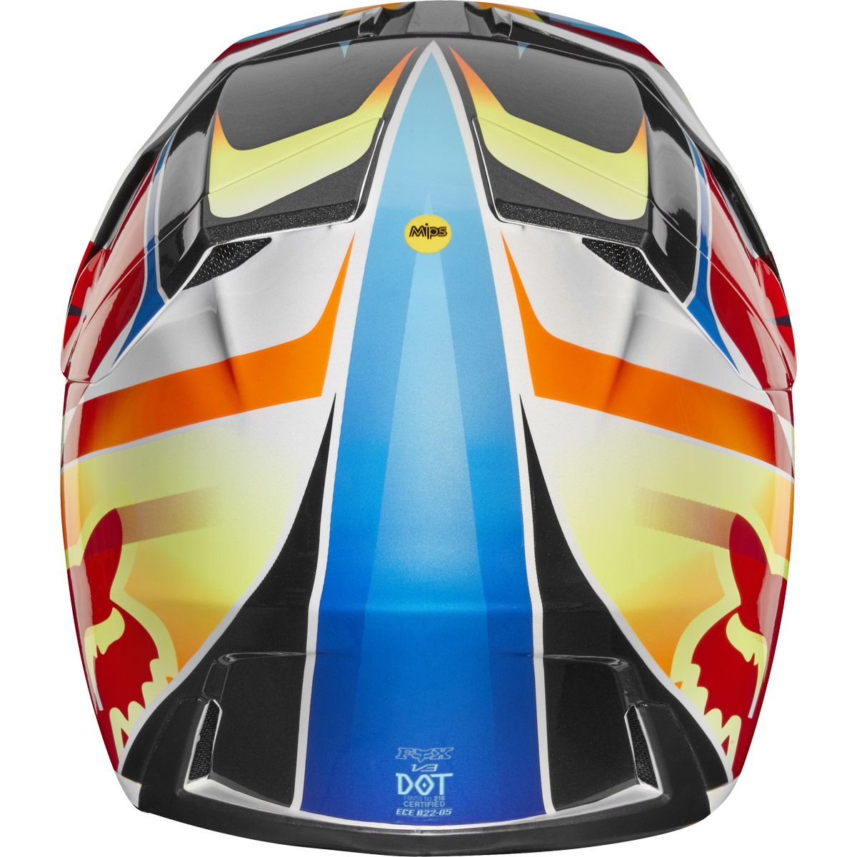 21768-080 Fox Racing 2019 V3 Motif Motocross Offroad Helmet Red Yellow Red Casque Enduro Crosshelm Helm