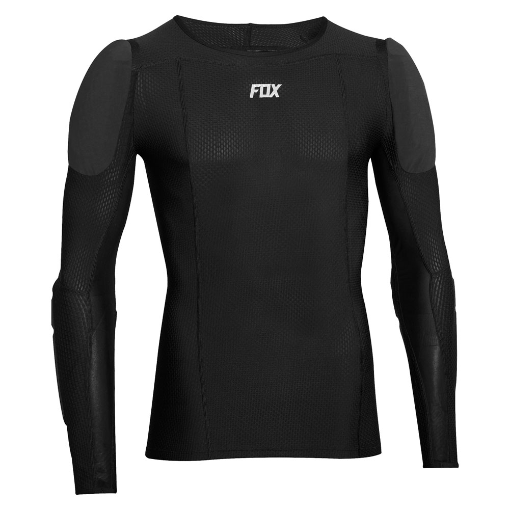 21792-001 2019 Fox Racing Baseframe Long Sleeve Protector Black Protektionshemd maillot de protection