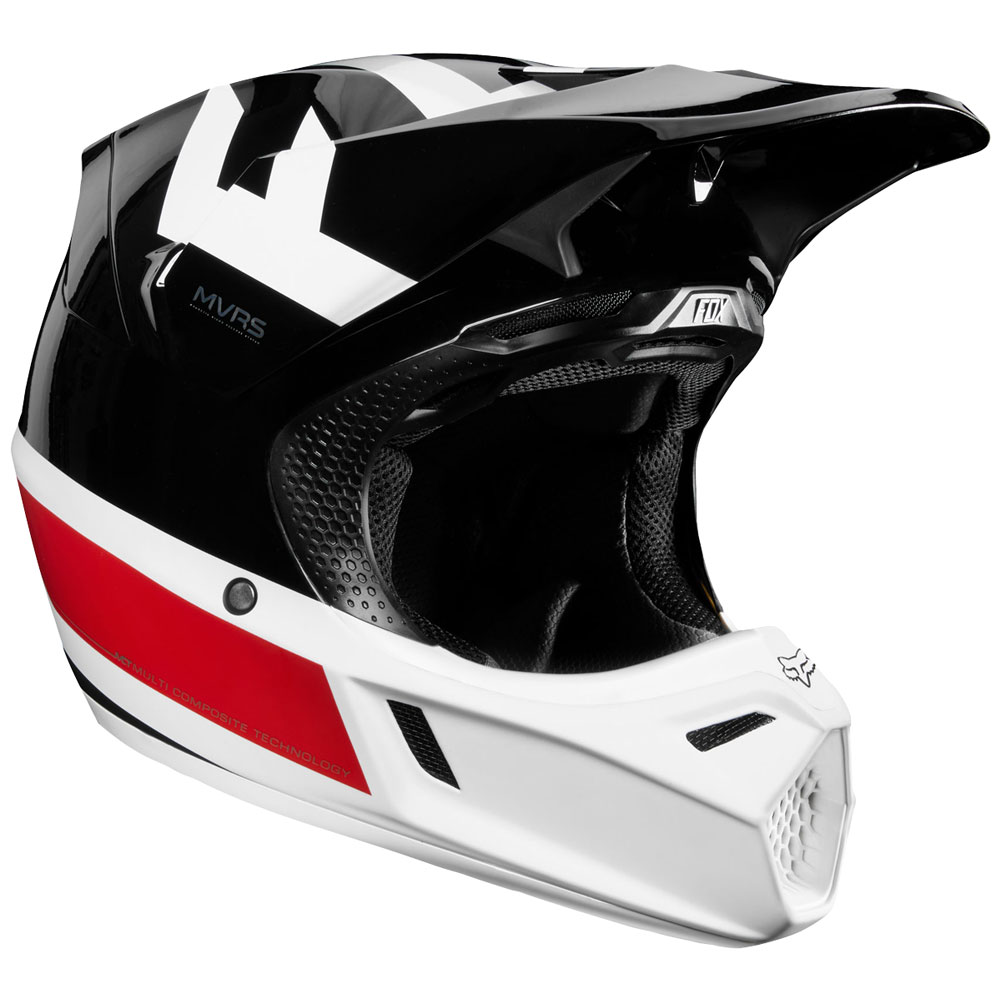 fox racing limited edition v3 preest helmet black red sixstar racing. Black Bedroom Furniture Sets. Home Design Ideas