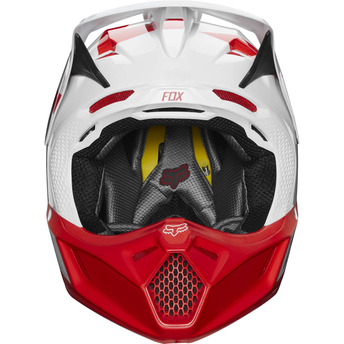 22145-077 fox limited edition v3 preest white red motocross bmx enduro helmet crosshelm casque helm