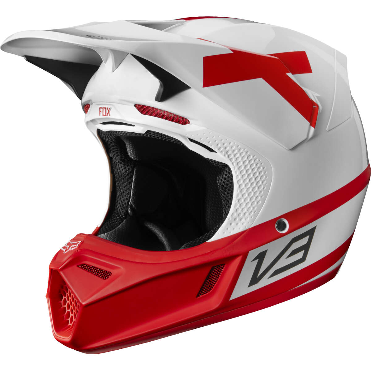 Casque Shoei 2018 >> 2018 Fox Racing Limited Edition V3 Preest Helmet White Red | Sixstar Racing