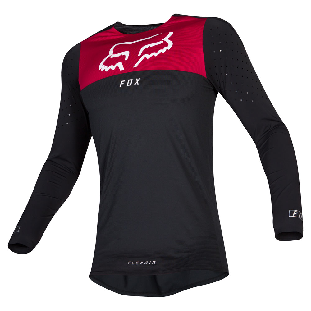 22251-122 Fox Racing 2019 Flexair Royl Flame Red Black Motocross Bmx Enduro Jersey Shirt Trikot Trui