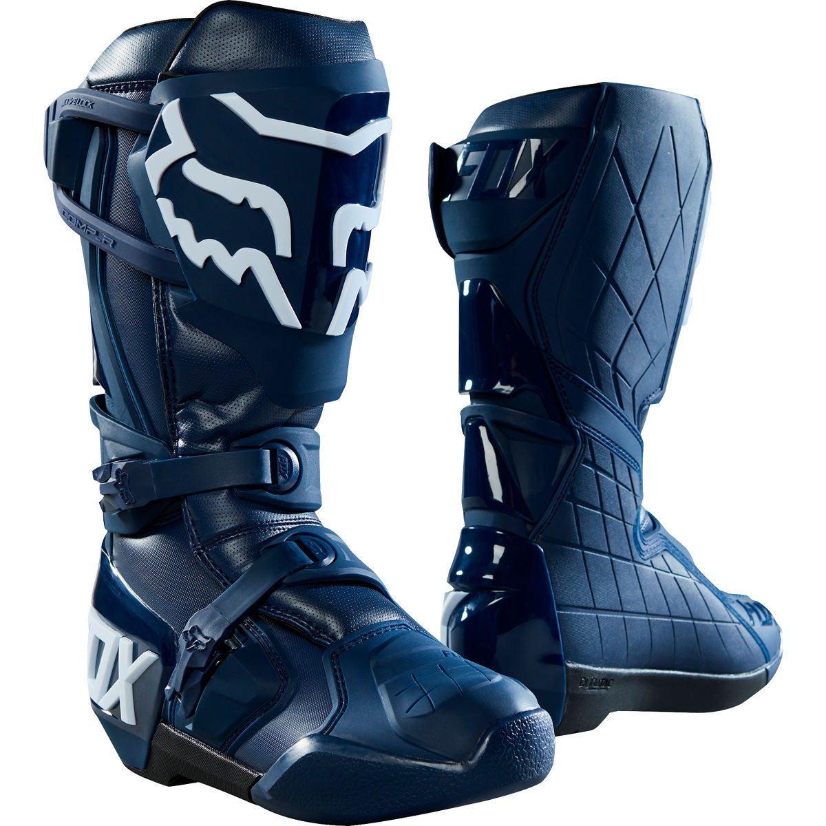 22882-007 Fox Racing Comp R Limited Edition Idol Boots Navy Bottes Motocross Marine Stiefel Offroad Blau Crosslaarzen Blauw