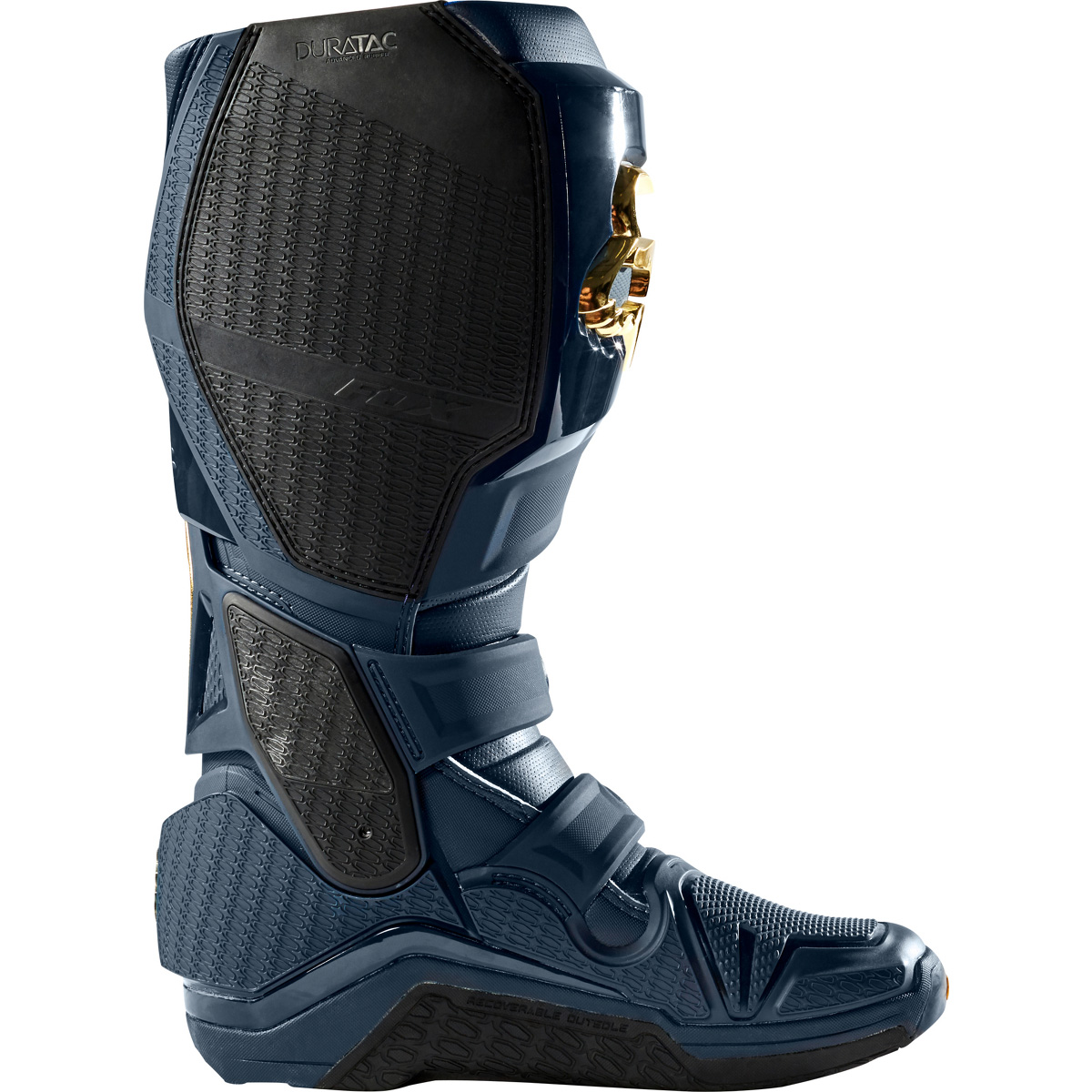 24277-156 Fox Racing 2019 Instinct Limited Edition Motocross Boots Navy Gold Bottes Offraod Stiefel Enduro Crosslaarzen