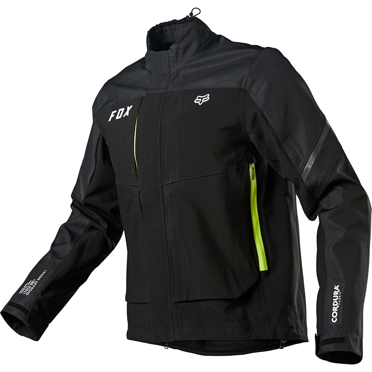 25788-001 2021 Fox Racing Legion Downpour Enduro Jacket Black Veste Enduro Jas Vest Fahrerjacke