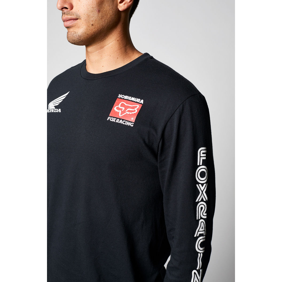 26693-001 Fox Racing Yoshimura Honda Long Sleeve Tee Black T-Shirt