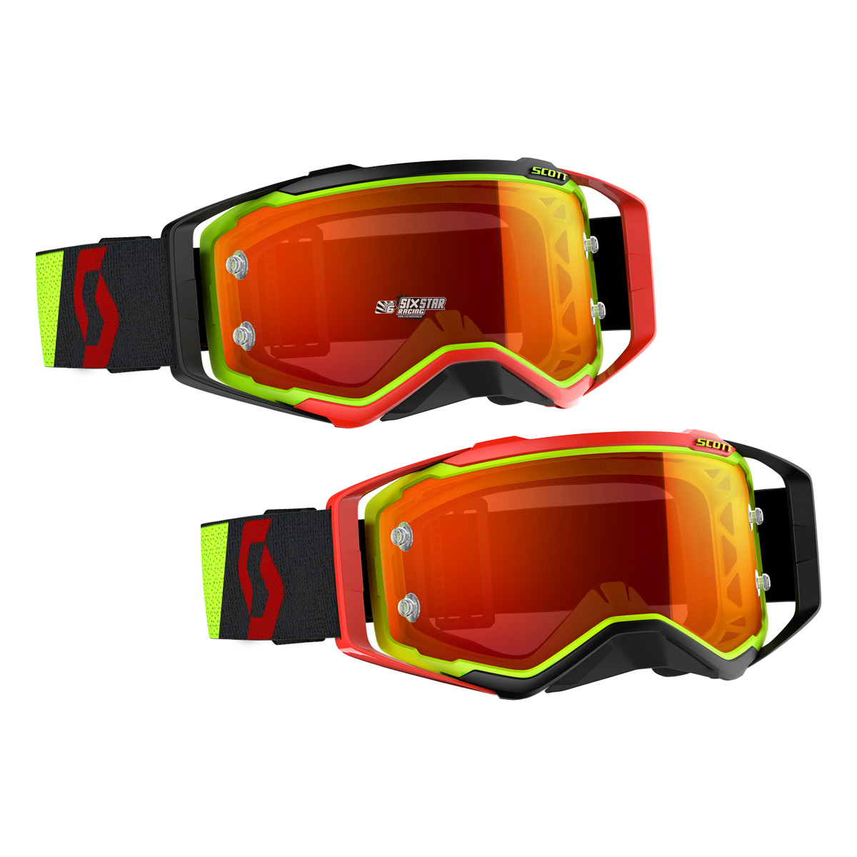 c4ea64e1422 268178-4039280 Scott 2019 Prospect Motocross Enduro bmx downhill Goggle  Yellow Red brille crossbril lunette