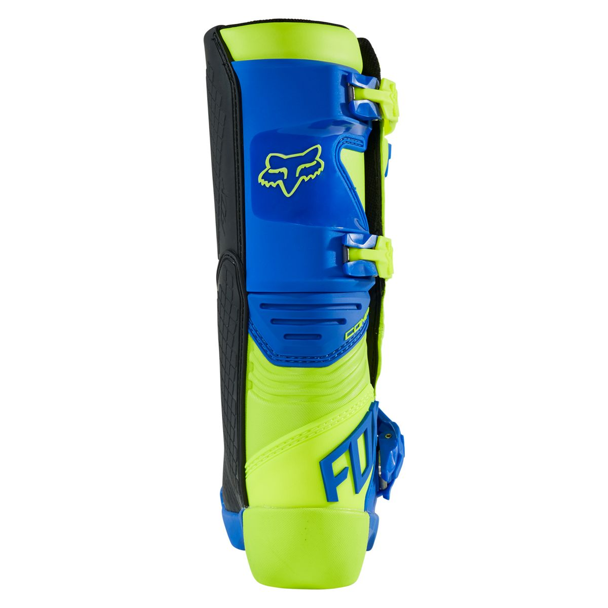 27689-586 2021 Fox Racing Youth Comp Motocross Boots Yellow Blue Kinder Laarzen Stiefel Bottes Enfant