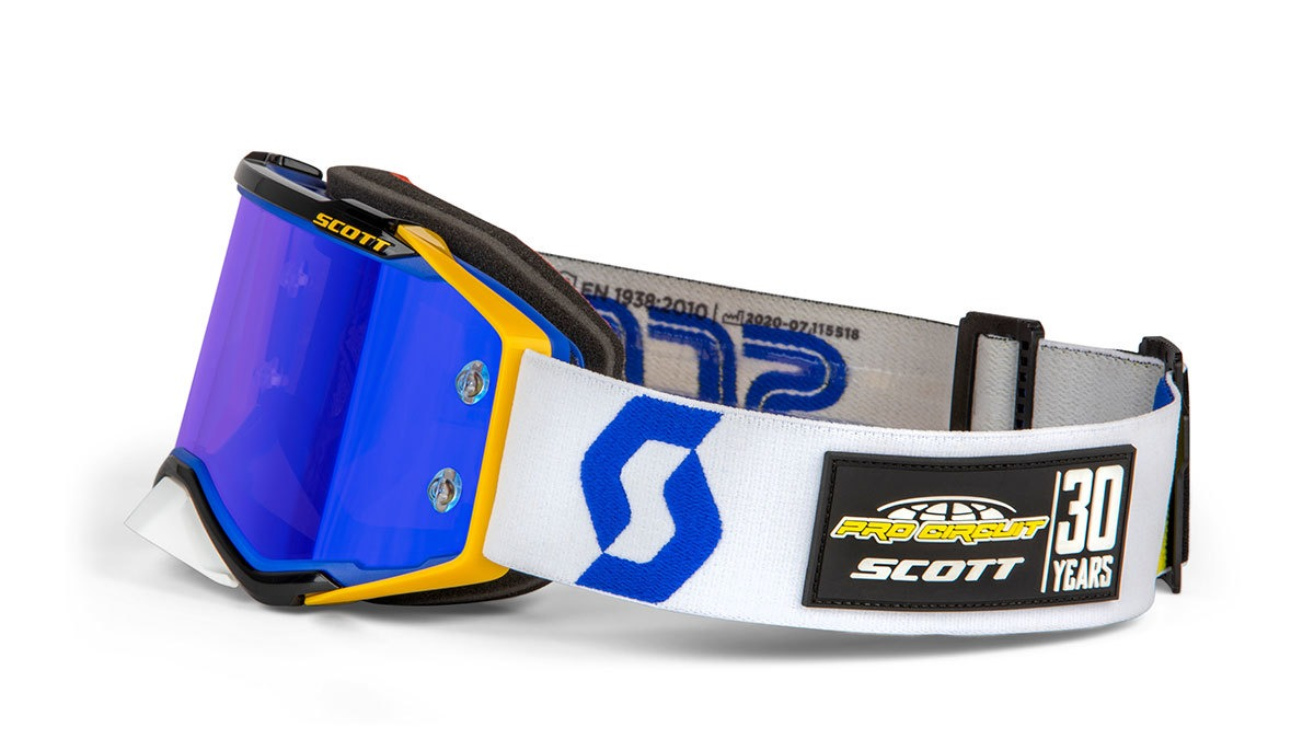 285540-1054349 Scott Prospect Pro Circuit 30 Years Limited EditionGoggle Blue Yellow Motocross Enduro Masque Brille Bril