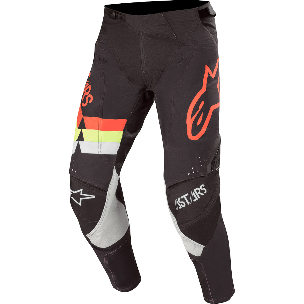3720020 1355 2020 Alpinestars MX Techstar Venom Pant Black Red Yellow Fluo Pantalon Cross Broek Hose