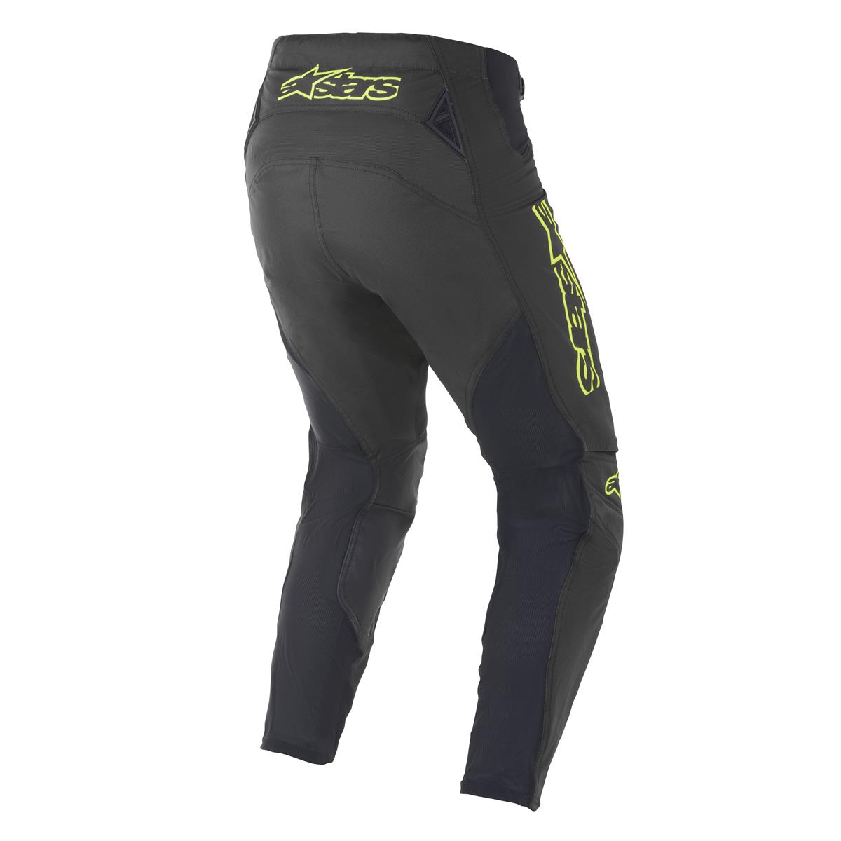 3721021 155 2021 Alpinestars Techstar Factory Pant Black Yellow Fluo MotoCross Broek Hose Pantalon