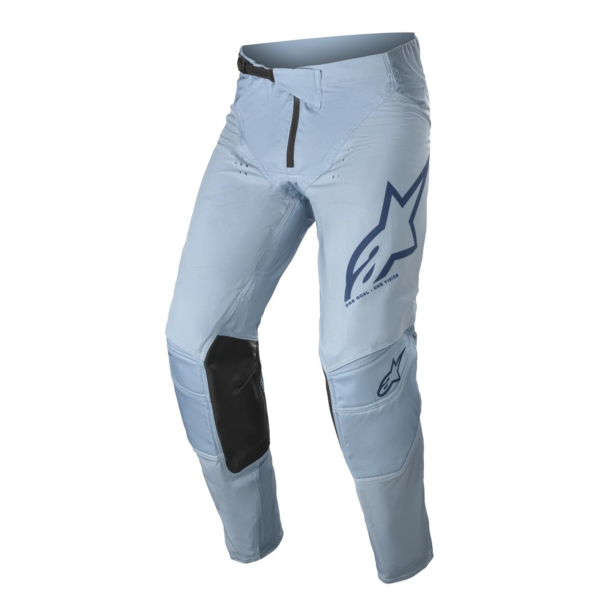 3721021 72222021 Alpinestars Techstar Factory Pant Powder Blue Dark Blue  MotoCross Broek Hose Pantalon