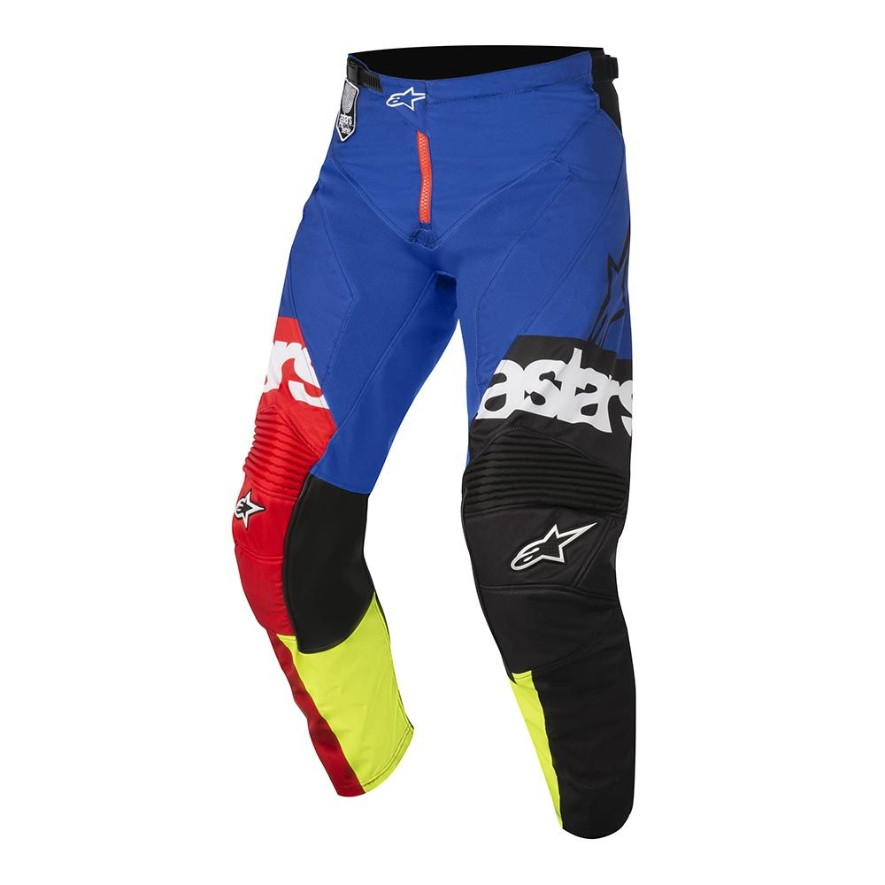 alpinestars 2018 racer flagship red yellow blue motocross enduro pant pantalon hose broek