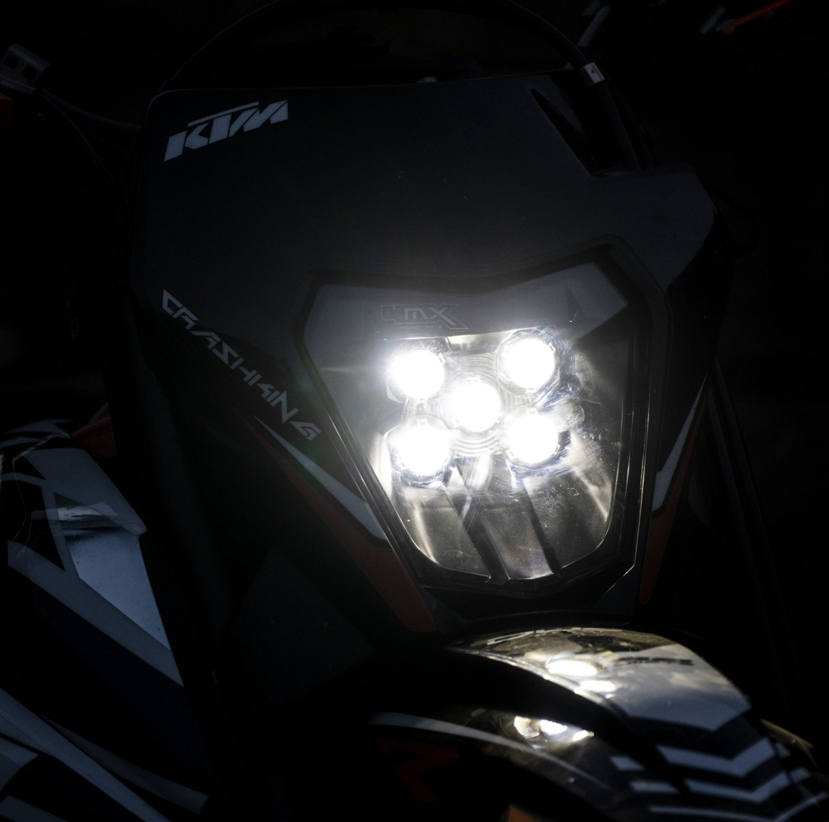 4MX Racing Led Enduro Headlight KTM  150EXC 250EXC 300EXC 250EXC-F 350EXC-F 450EXC-F 500EXC-F Koplamp Plaque Phare Complète Led-scheinwerfer